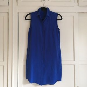J.Crew Silk Sleeveless Shirt Dress